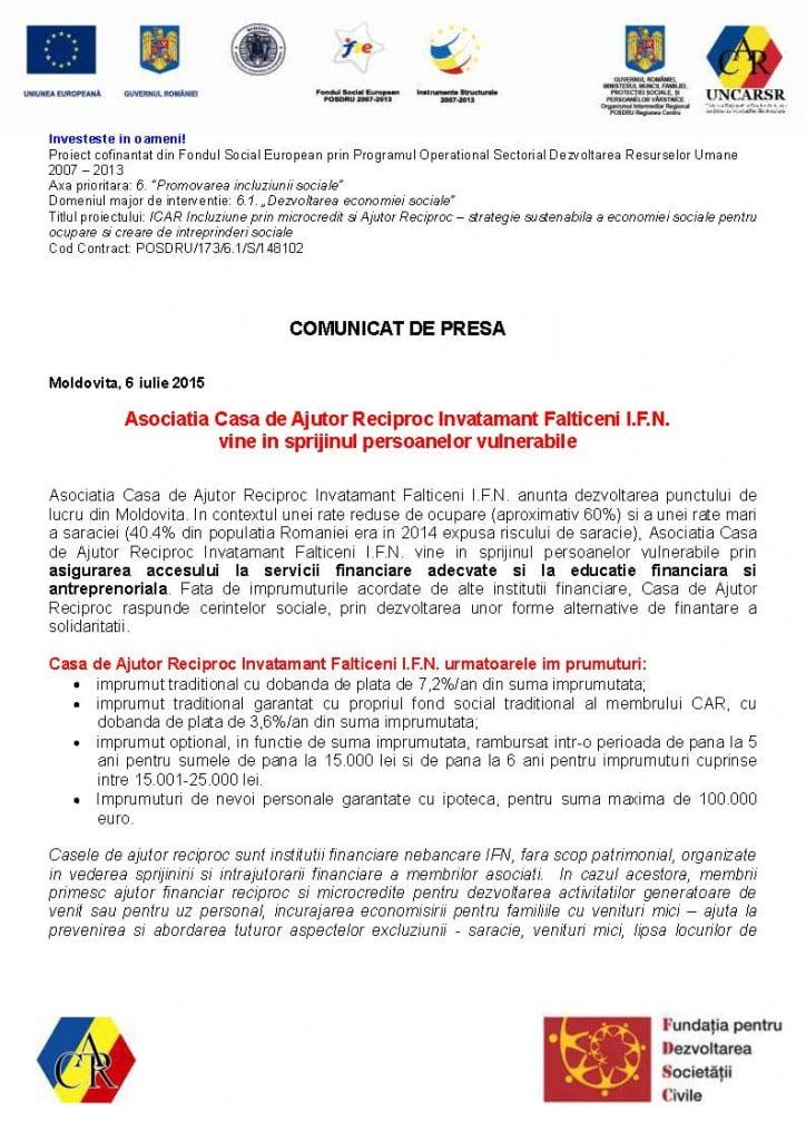 Comunicat de presa lansare CAR - Moldovita_Page_1