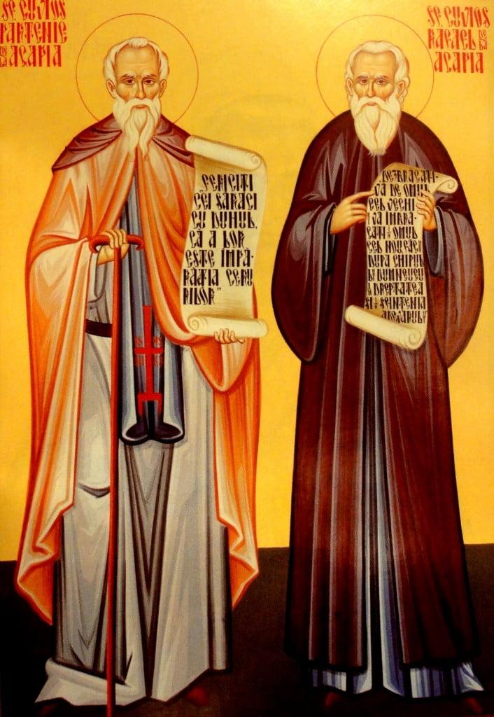 Sfintii Cuviosi Rafail si Partenie de la Agapia Veche