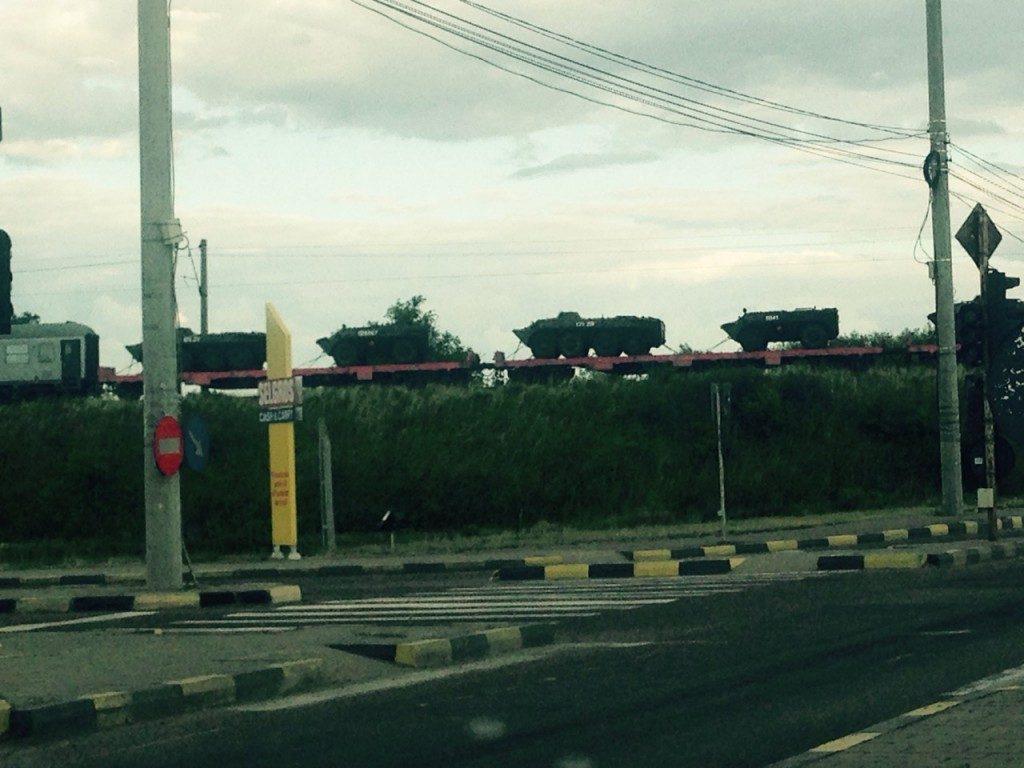 echipament militar tren