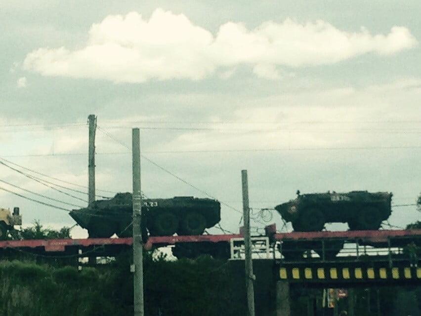 tren militar echipament