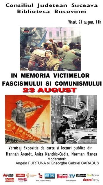 Afis 23 august Ziua Victimelor Fascismului si Comunismului