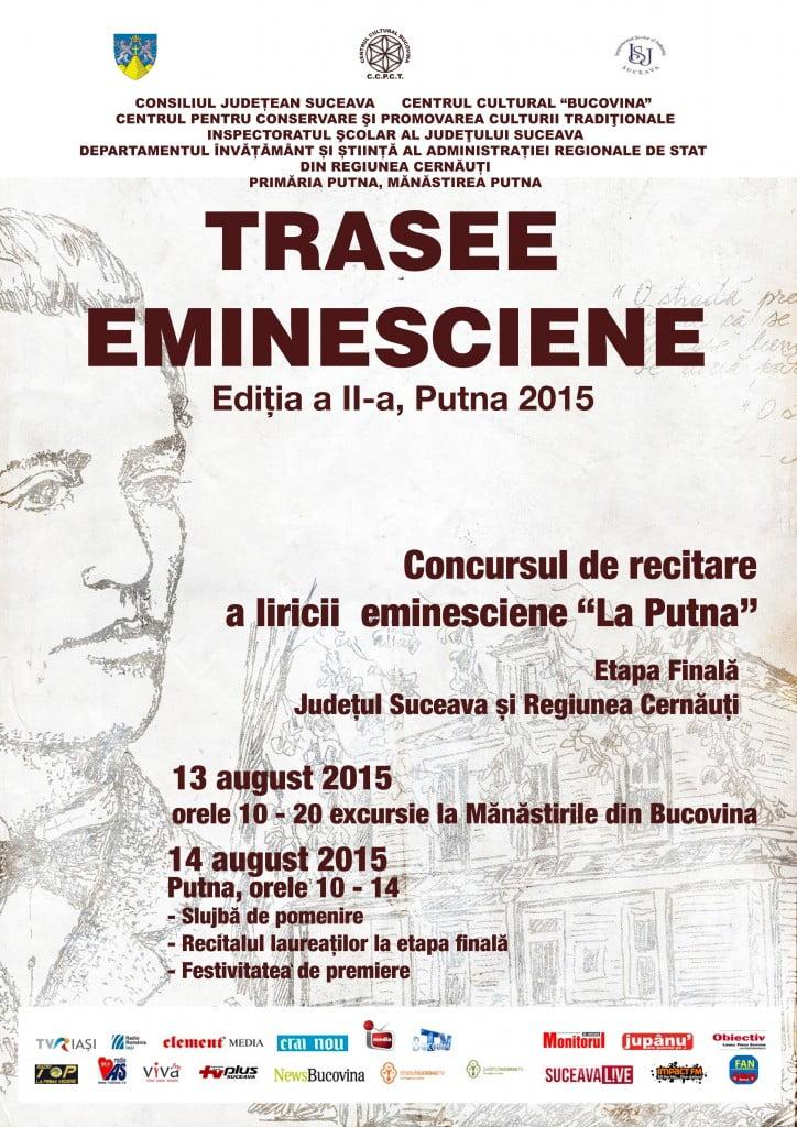 Afis - TRASEE EMINESCIENE 2015