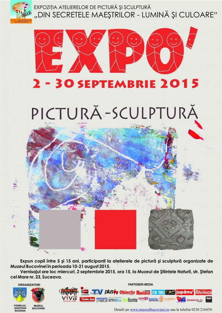 afis Expo atelierelor Din secretele maestrilor- lumina si    culoare 2015