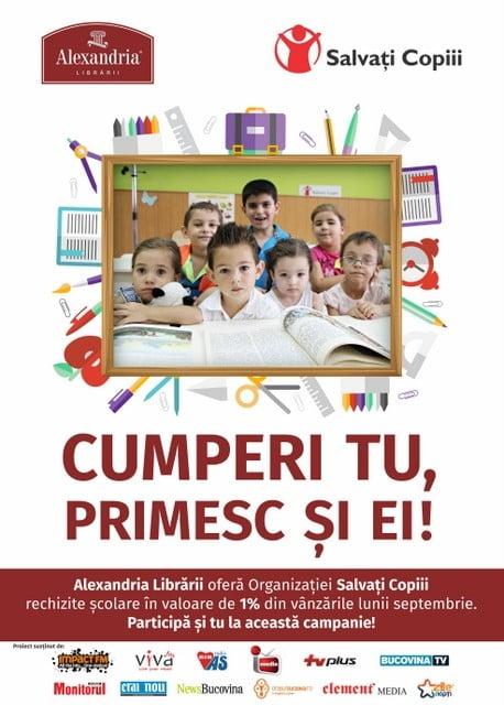 Afis Alexandria Salvati copiii - Parteneri Suceava (1)