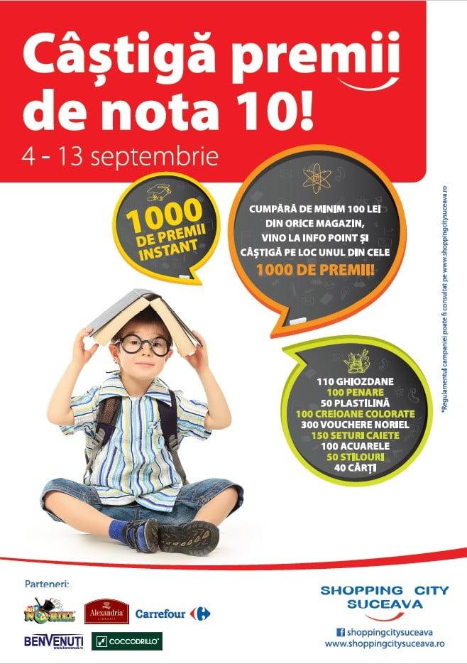 Afis Castiga premii de nota 10