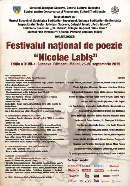 Afis - Nicolae Labis 2015