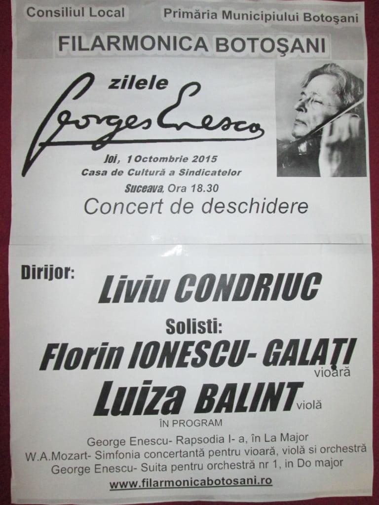 Filarmonica     Botosani       01 oct 2015