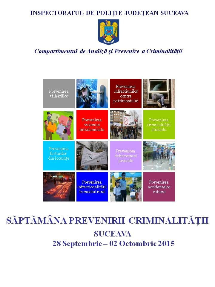 afis saptamana prevenirii criminalitatii 2015