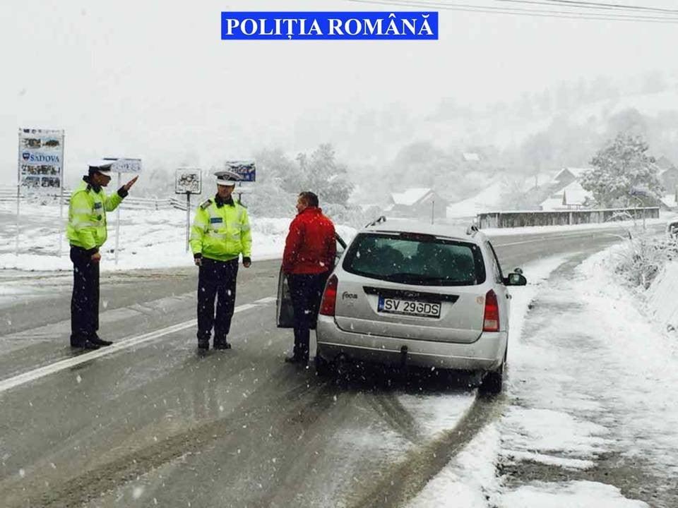 activitati de monitorizare DN 17 iarna sofer masina