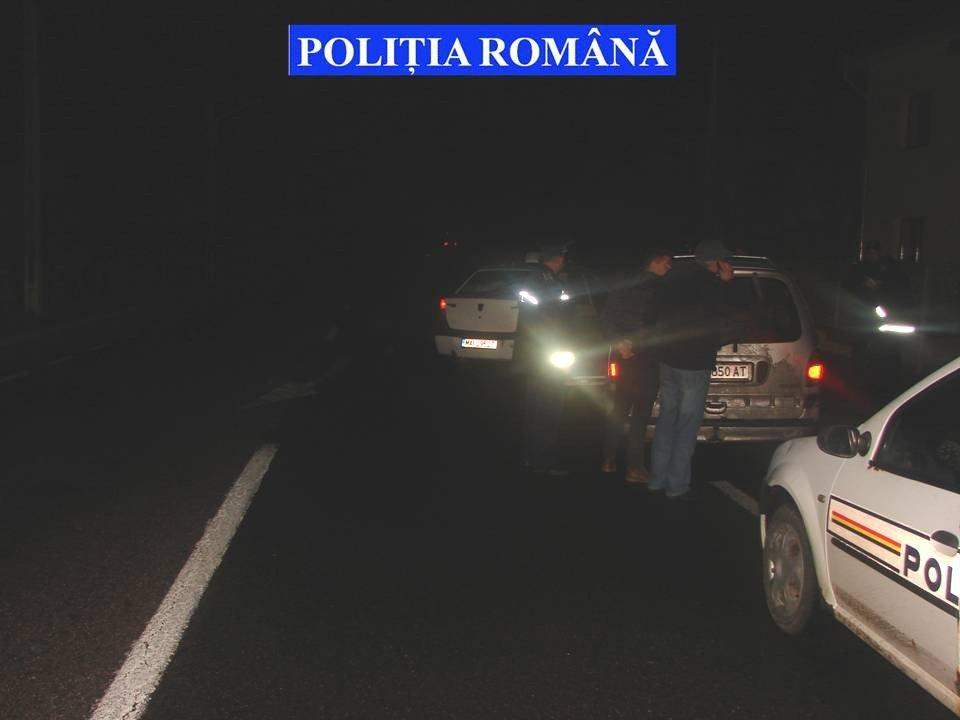 blocare in trafic auto contrabanda urmarire