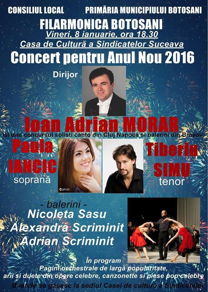 afis concert de anul nou