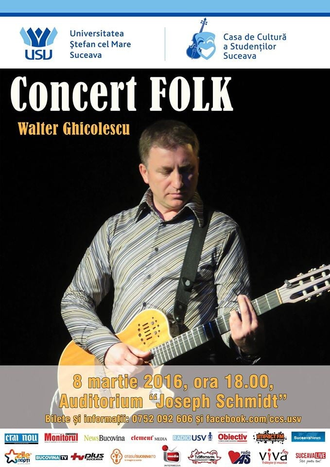 afis concert Walter Ghicolescu