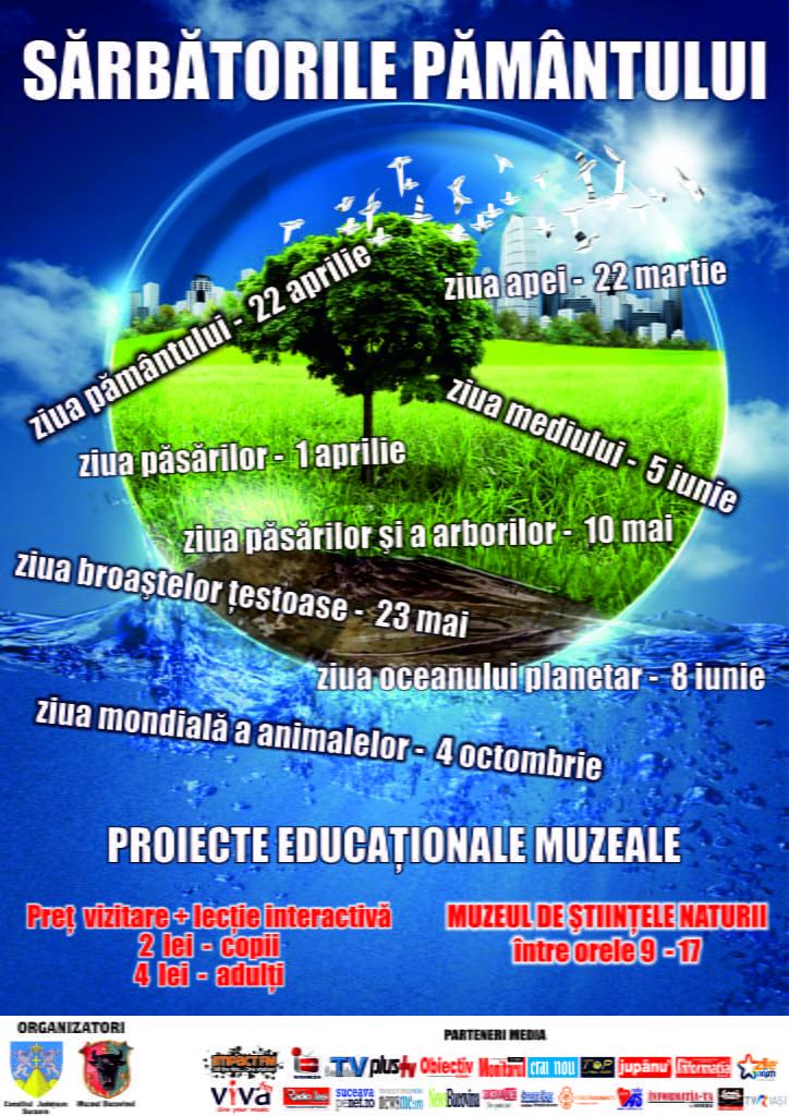afis proiecte ducationale naturale ape pamant pasari