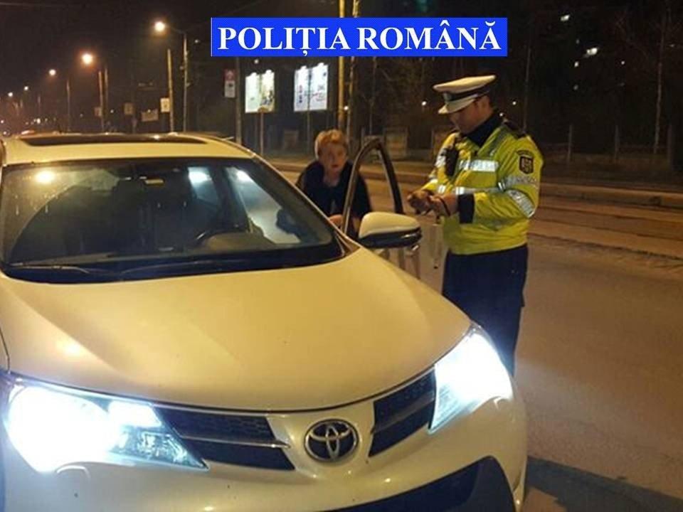 politie masina sofer