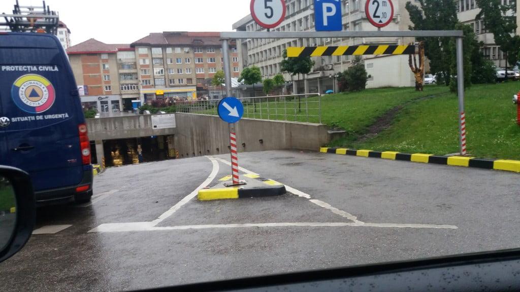 parcare subterana inundatie