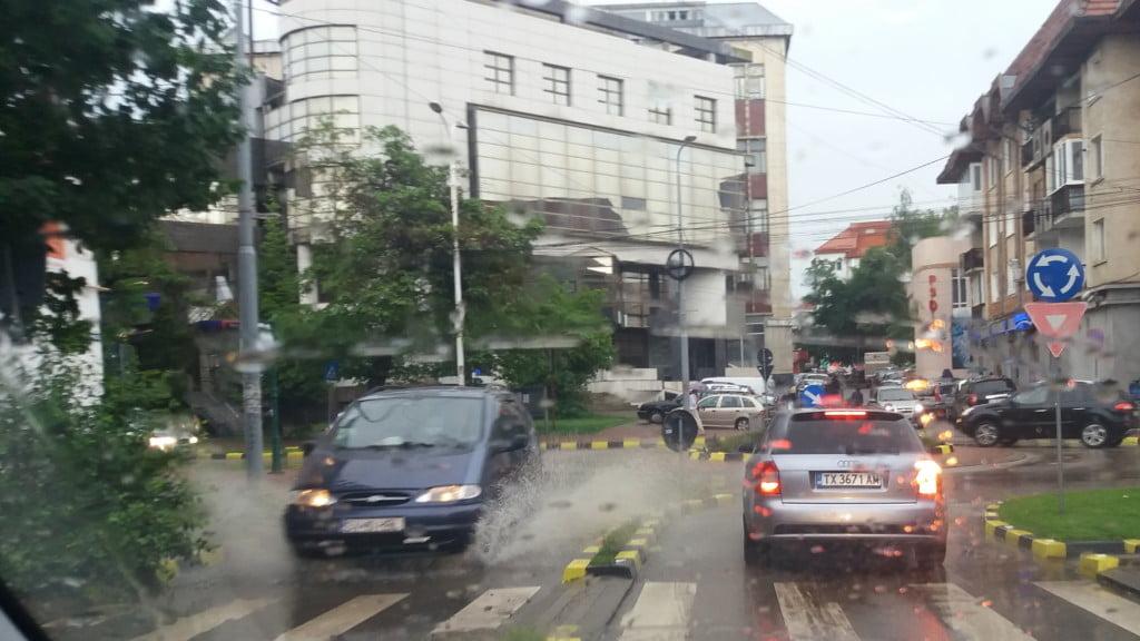ploaie, trafic, inundatie