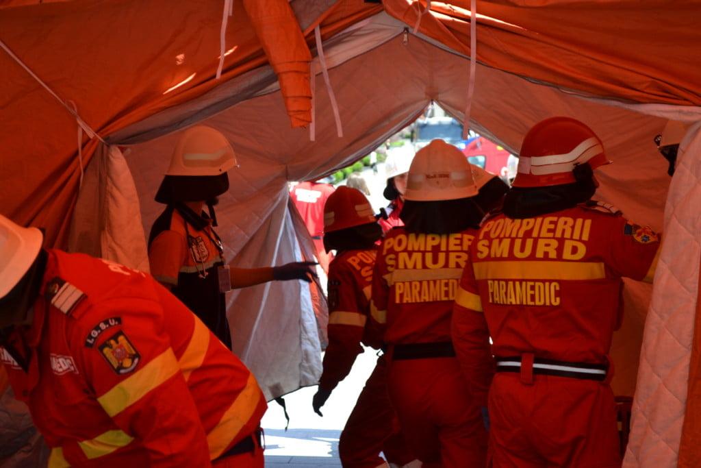 simulare cutremur centrul Sucevei, pompieri (13)