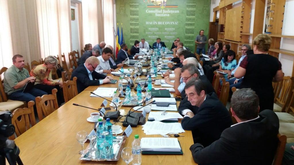sedinta CJ Suceava suspendata