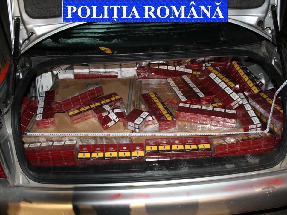 tigari contrabanda, autoturism abandonat la Brodina (2)
