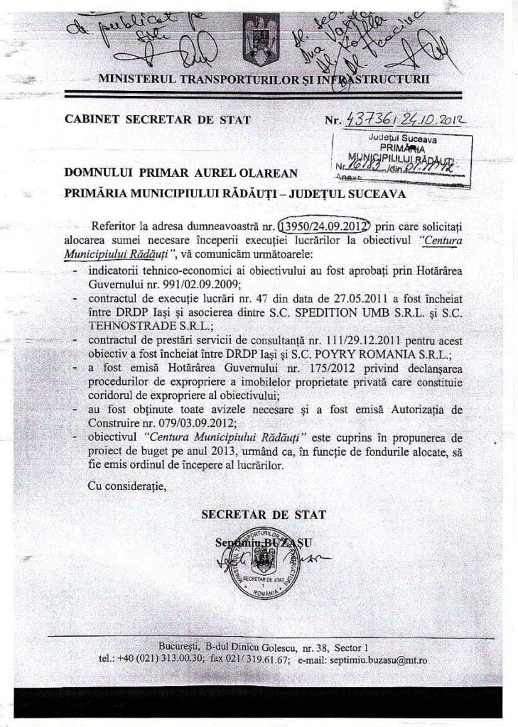 adresa-ministerul-transporturilo-catre-primar-olarean