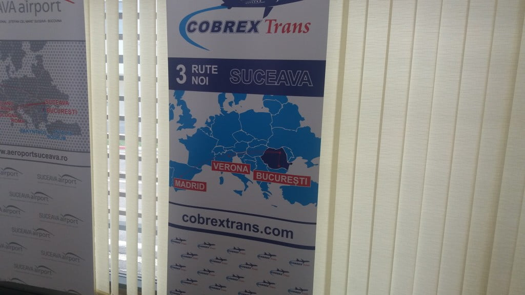 LIVE TEXT: Cobrex Trans anunță zboruri de pe Aeroportul Suceava spre Madrid, Verona și București